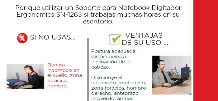Por que usar un soporte de notebook SN1263